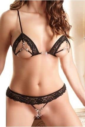 Sexiga Set Bra Set Jewelry