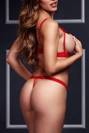 Sexiga Damunderkläder Strappy Bodysuit & Open Cup Bra O/S Red