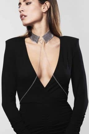 BDSM Desir Metallique Collar Silver