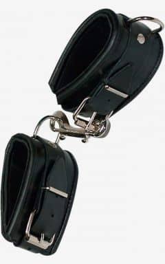 Handbojor & bindande Leather Cuffs Padded