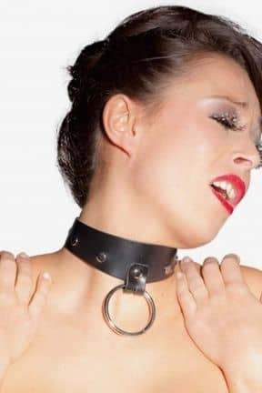 Bondage / BDSM Leahter Collar With Ring