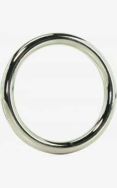 Penisringar utan vibrator Edge Seamless Metal Ring 5,1 cm