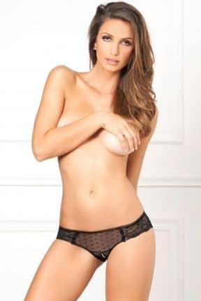 Sexiga Underkläder Crotchless Lace & Dots Panty