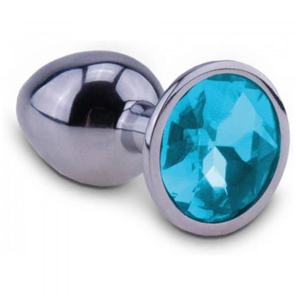 RelaXxxx - Silver Starter Butt Plug Blue Medium