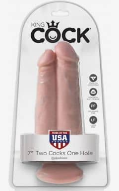 Dubbeldildos King Cock Two Cocks One Hole