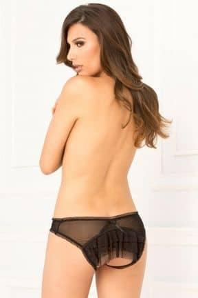 Trosor & String Crotchless Mesh Layer Panty S/M