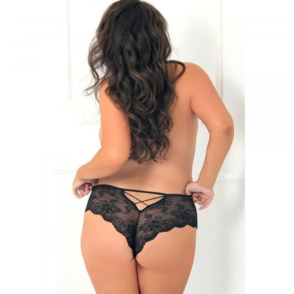 Deep V Crotchless Panty Plus Size 3XL