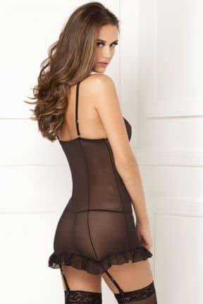 Sexiga Chemise Rouched Up Right Chemise Set S/M