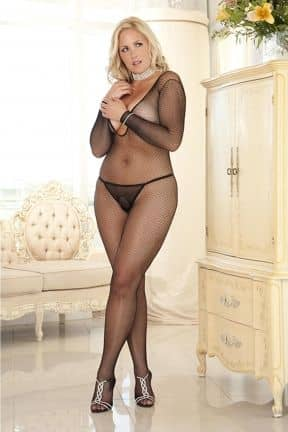 Deep V-Neck Bodystocking X-OS