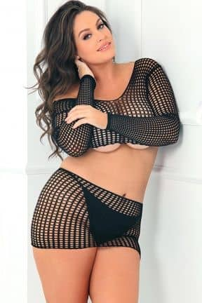 2PC Crochet Bodystocking OS