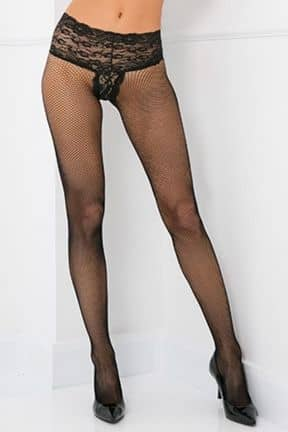 Strumpbyxor & Stay-ups Lace Top Fishnet Pantyhose OS