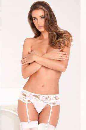 För henne Lace Garter Belt White