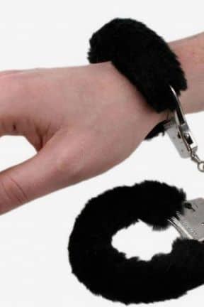 Metal Handcuffs with Black Plush