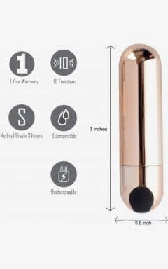 Vibratorer Power Bullet Jessi - Rose Gold