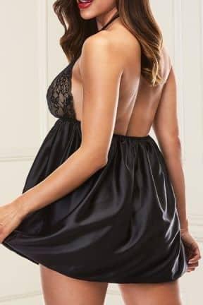 Klänningar Baci - Sexy Lace Babydoll Set Black