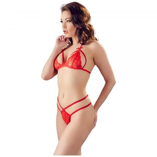 Lace Set Red S