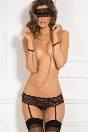 Sexiga Set 3pc Crotchless Panty & Mask Set
