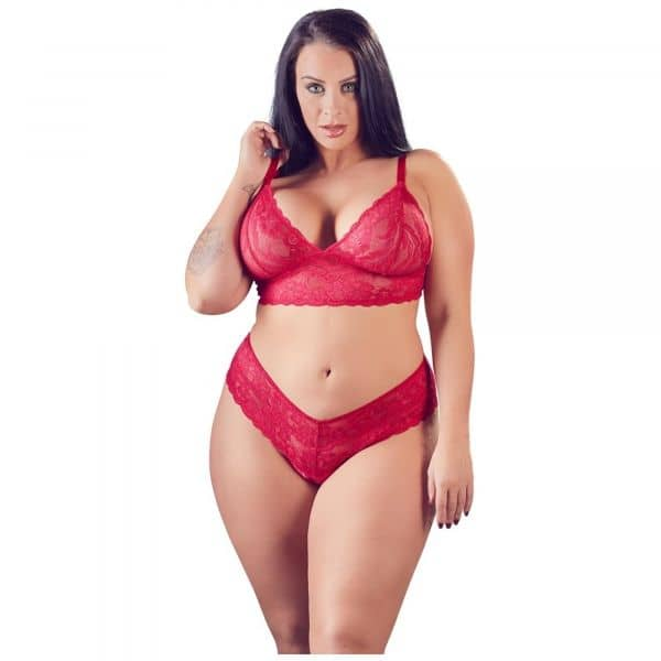 Diva Lace Set Red 2XL