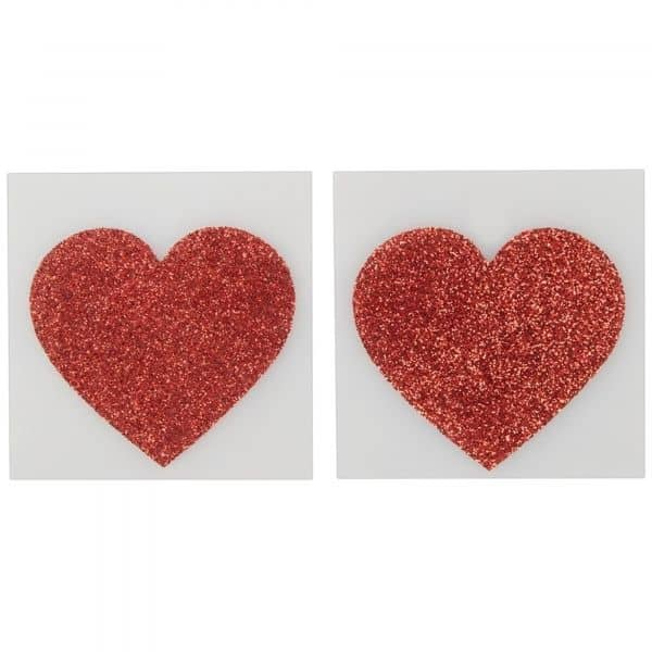 Nipple Sticker Heart Red