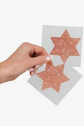 Kroppssmycken Nipple Sticker Star Copper