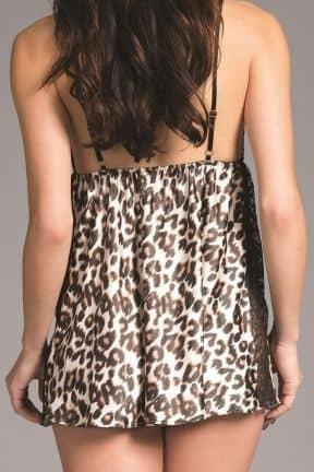 Klänningar Jennifer Leopard Satin Babydoll