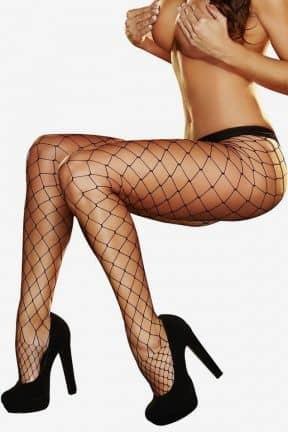 Sexiga Damunderkläder Lapdance - Big Net Pantyhose Black