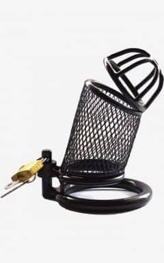 Kyskhetsbälten Cock Cage Steel Black Net