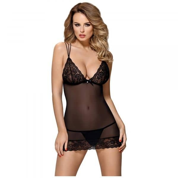 Obsessive Chemise w. straps and thong S/M