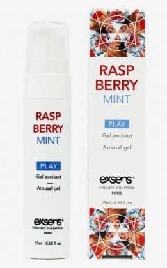Lustökande & fördröjande Exsens - Sensual Play Gel Raspberry Mint