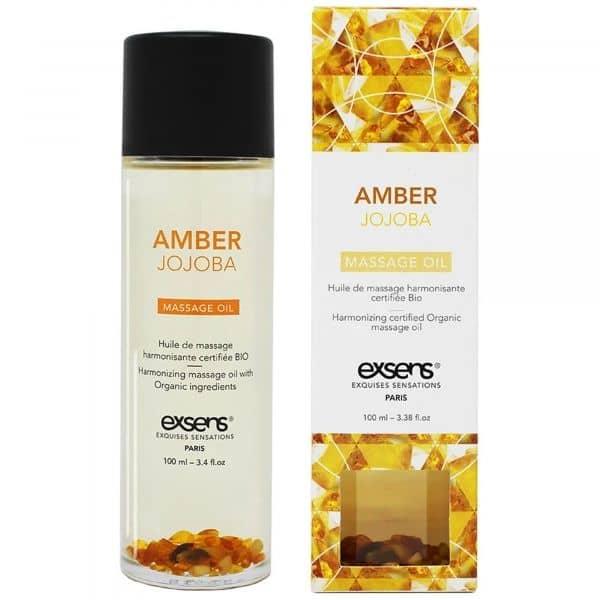 Exsens - Organic Massage Oil w. Stones Jojoba