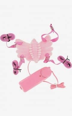 Samlagsvibratorer Butterfly Massager Strap-On Vibrator Pink