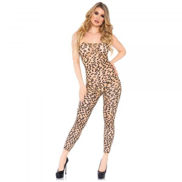 Bodystocking Footless LeopardM/L