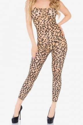 Sexiga Damunderkläder Bodystocking Footless LeopardM/L