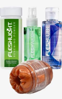 Klaviyo-fleshlube Fleshlight quickshot med glid, rengöring & Renewing powder