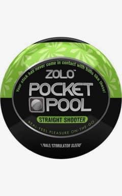 Onanifavoriter för honom Zolo - Pocket Pool Straight Shooter Black/Green