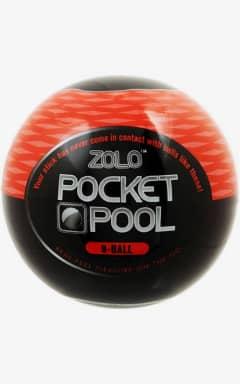 Onanifavoriter för honom Zolo Pocket Pool 8 Ball Black/Red