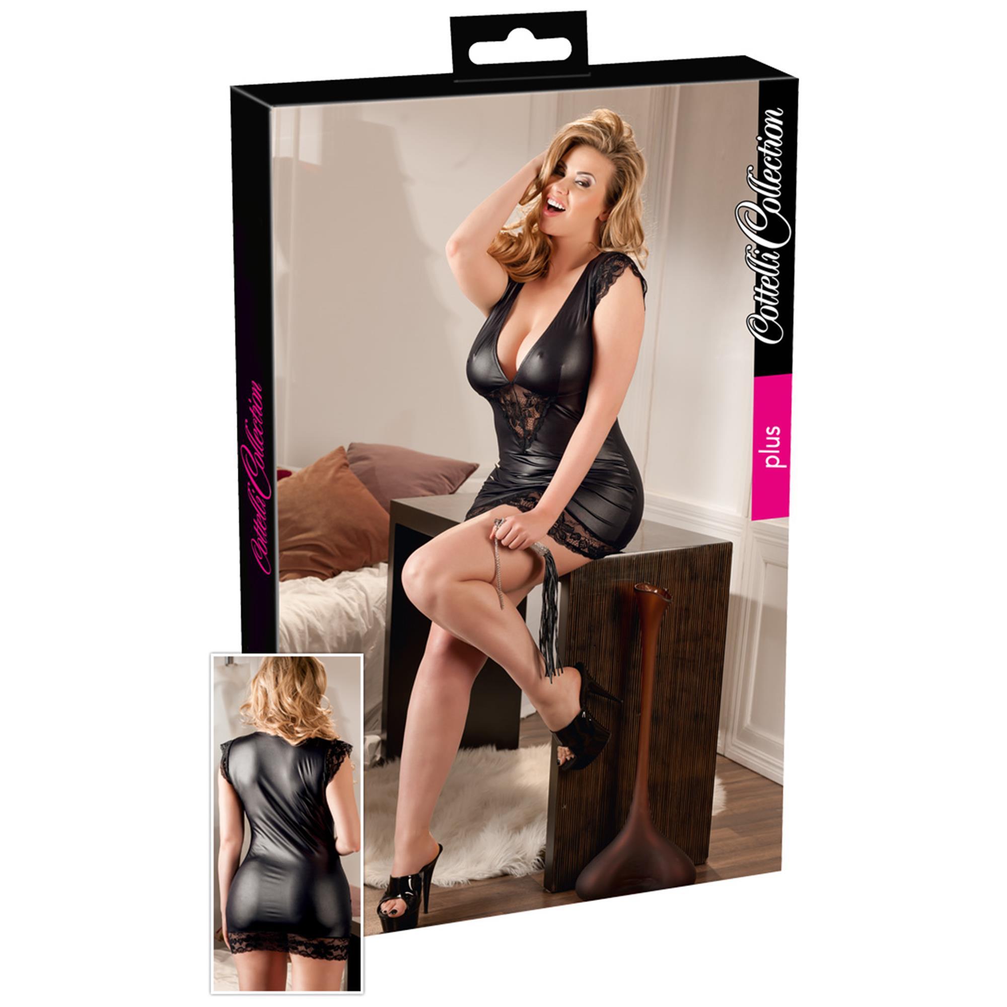 Plus Size Wetlook Dress XL