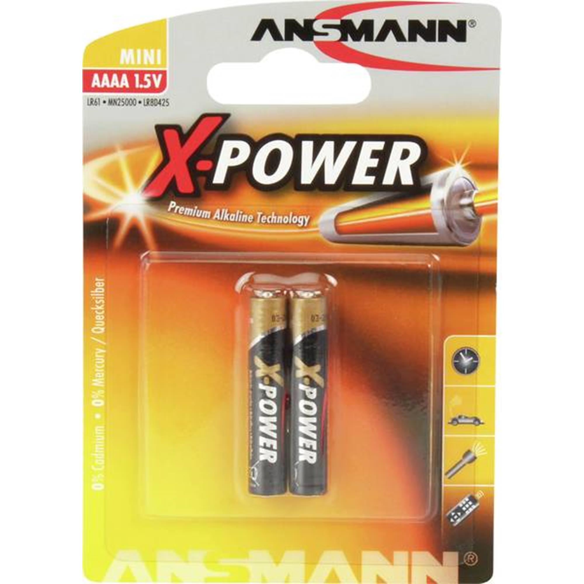 Batteri LR61 - AAAA 2-pack (Ansmann)
