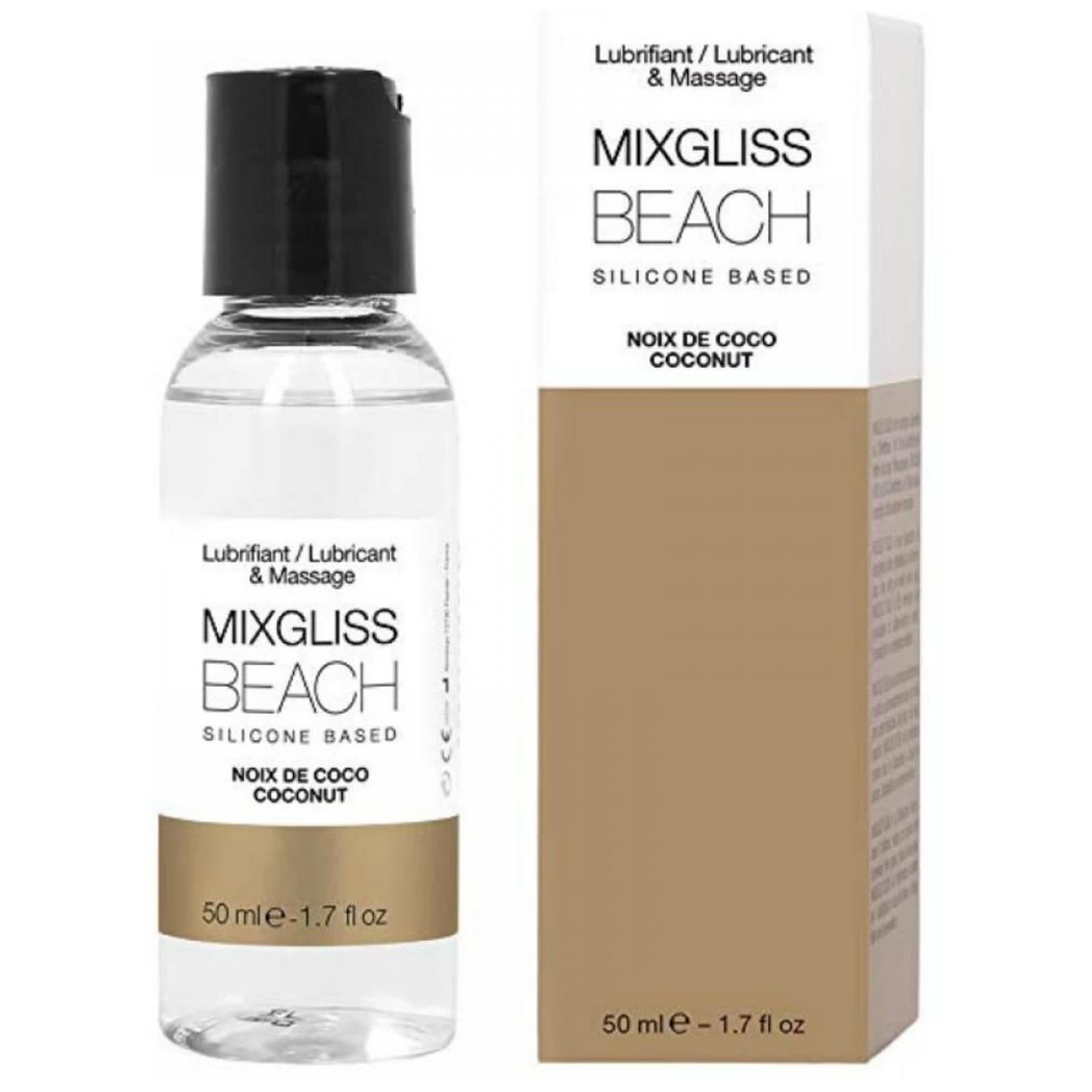 MIXGLISS Silicone Beach Coconut 50ml | Apotek, Glidmedel, Silikonbaserat glidmedel | Intimast.se - Sexleksaker