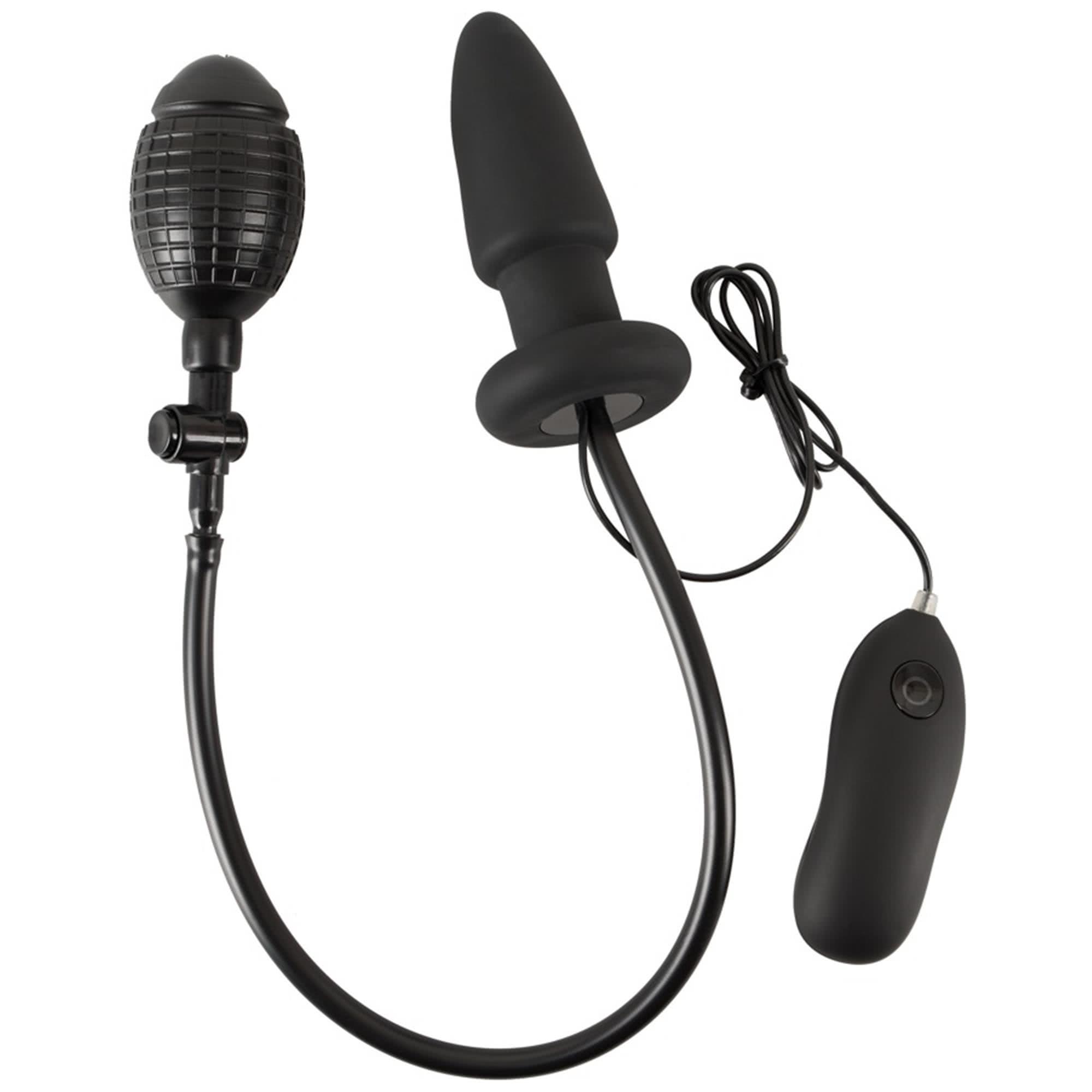 Inflatable + Vibrating Butt plug