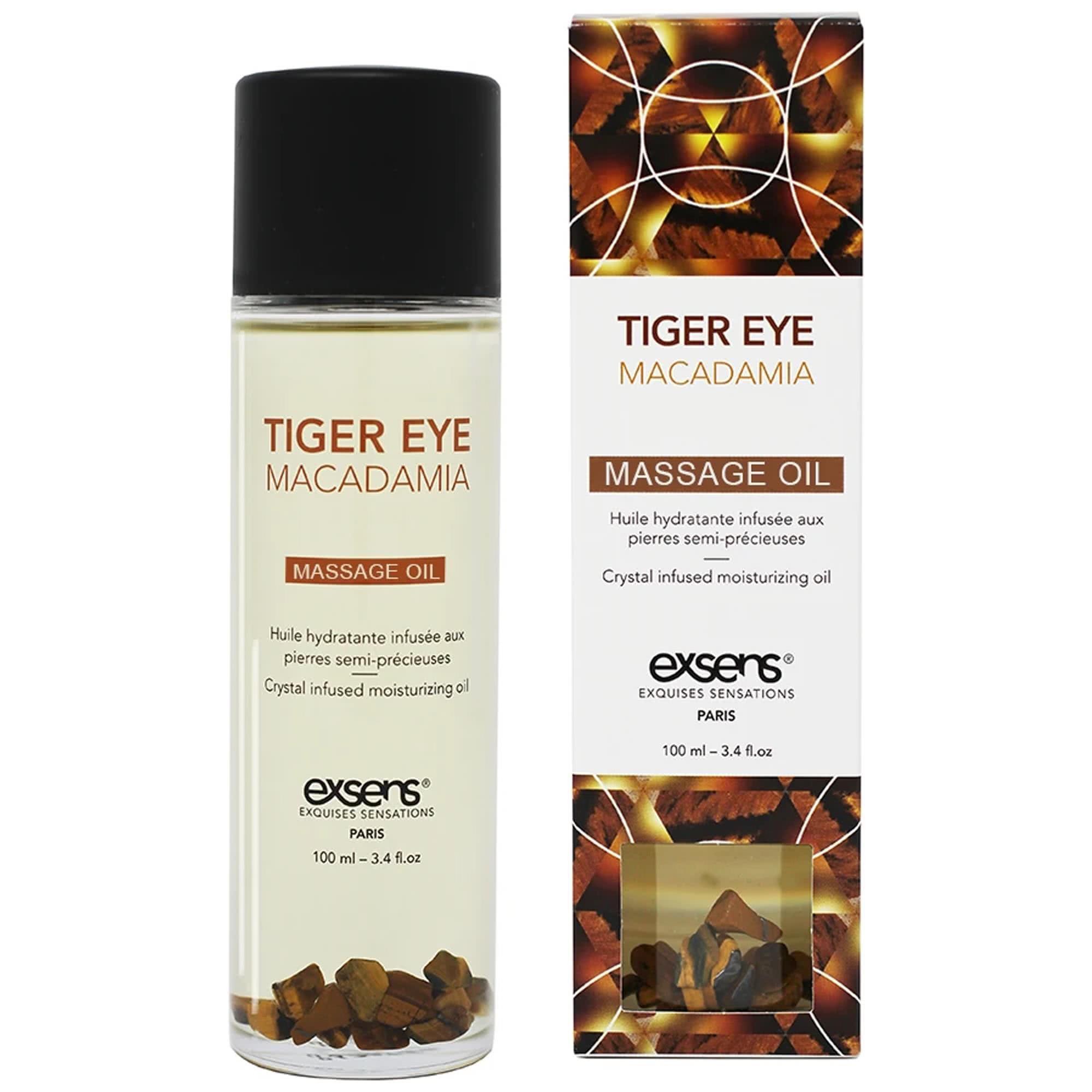 Exsens - Organic Massage Oil w. Stones Macadamia
