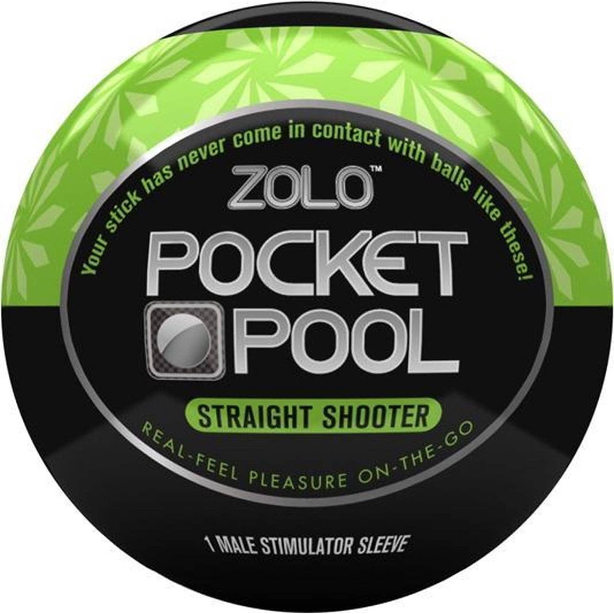 Zolo - Pocket Pool Straight Shooter Black/Green