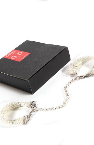 Handklovar Plaisir nacré, armband/handklovar av pärlor