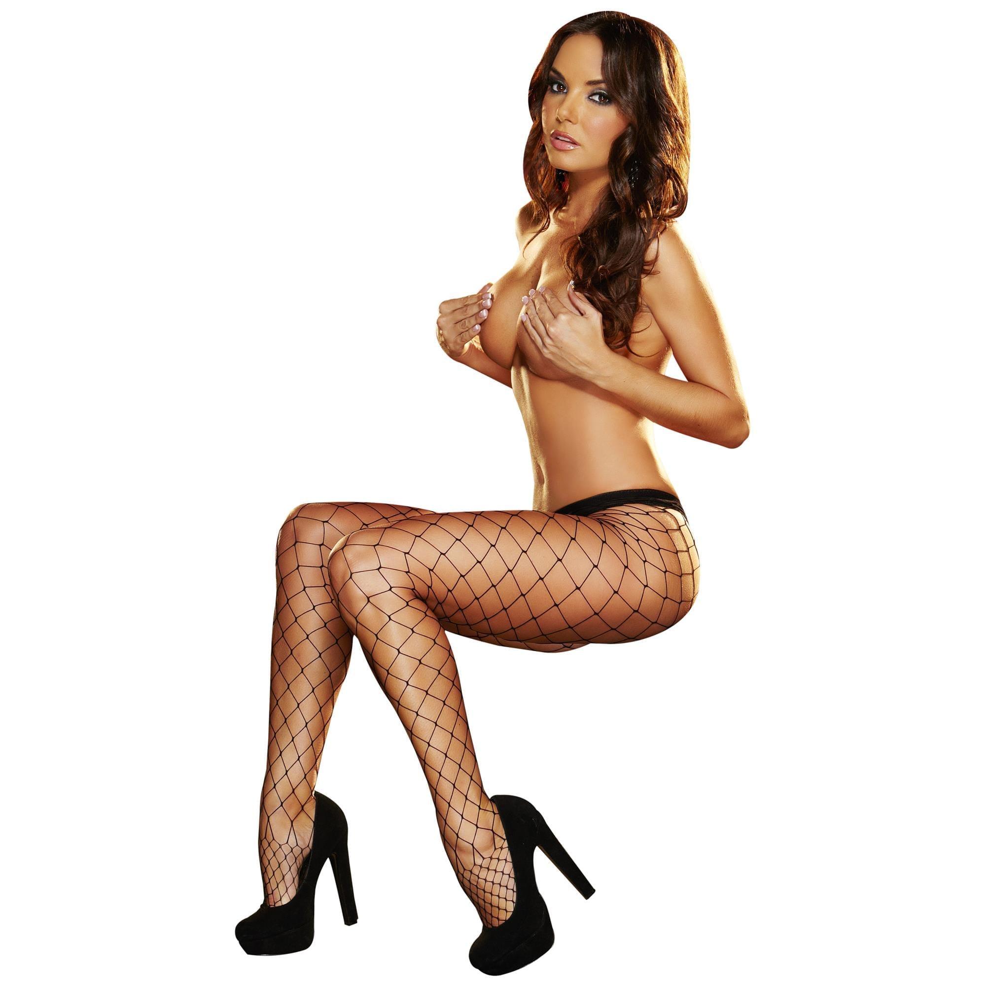 Lapdance - Big Net Pantyhose Black | Sexiga Underkläder, Strumpbyxor & Stay-ups | Intimast.se - Sexleksaker