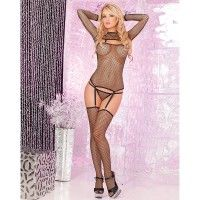 Forbidden Fishnet Garter Set