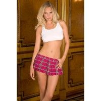 Reform School Girl Mini Skirt Pink