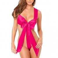 Unwrap Me Satin Bow Pink S/M