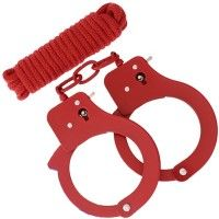 BondX Cuffs & Bondagerep - Röd
