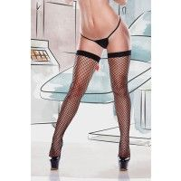 Fishnet Thigh Hi Bow & Nurse Patch