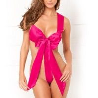 Unwrap Me Satin Bow Pink M/L